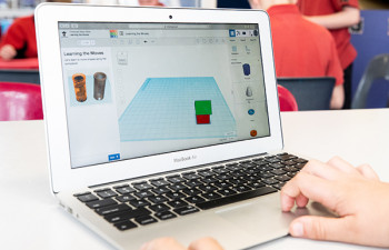 Tinkercad is used to create a 3D print file.