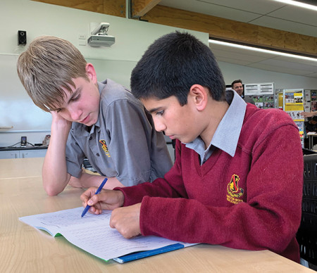 Zack and Ahmad have formed a strong connection through the Manaaki Centre programme.