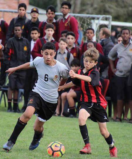 Yasin and Txema play in the Brotherhood Cup, a popular annual fixture at Hamilton Boys' High School.
