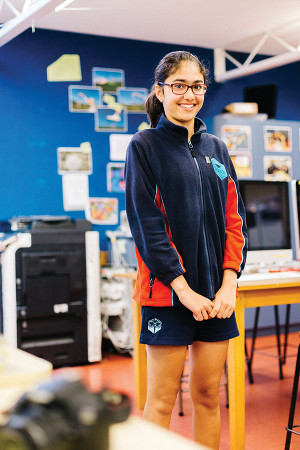 Newlands Intermediate student Aveen says the skills she is learning now are bound to come in handy in the future.